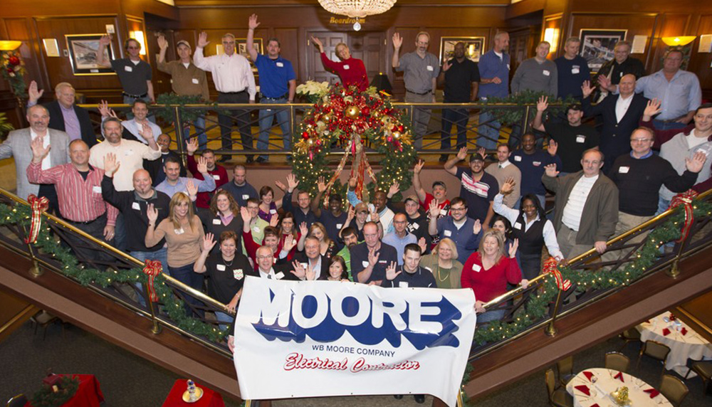 WB Moore staff at holidays